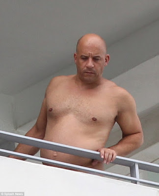actor Vin diesel over weight picture with pot belly