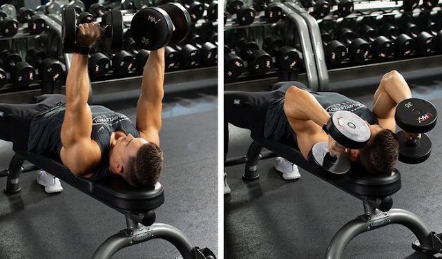 Neutral-Grip Lying Triceps Extension