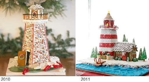 gingerbread lighthouses