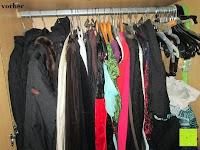Kleiderschrank vorher: IPOW- 8 Set platzsparende Kleiderbügelhalter Schrankbügel Kleiderbügel kleiderstange Mehrfachkleiderbügelhalter