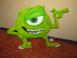 FIGURAS ICOPOR MONSTER INC MEDELLIN