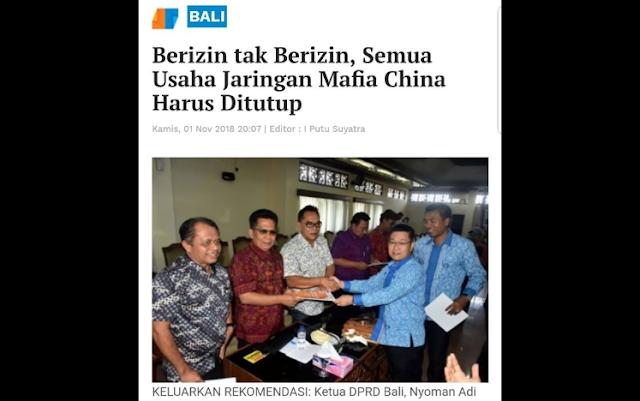 Gubernur Bali Mengamuk ke Pengusaha-Pengusaha China di Bali