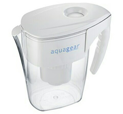 Aquagear Water Filtering Jug - 8Cup Filter Pitcher