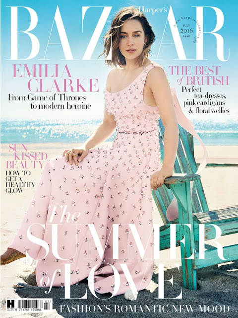 Actress, @ Emilia Clarke - Harper's Bazaar UK, July 2016