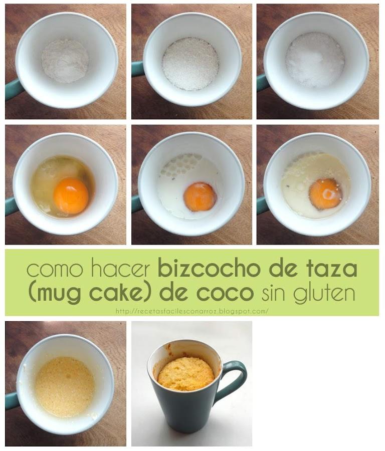 mug cake coco fototutorial