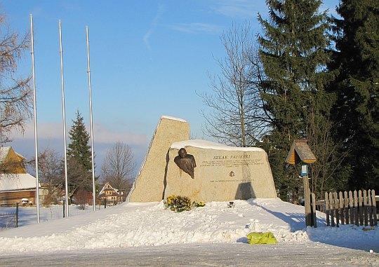 Obelisk upamiętniający Jana Pawła II.