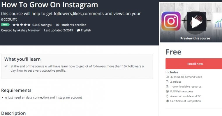 100% Free] How To Grow On Instagram - OnlineCouponsCourse