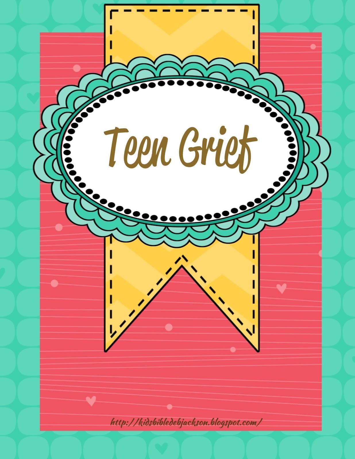Bible Fun For Kids Teen Tuesday Grief