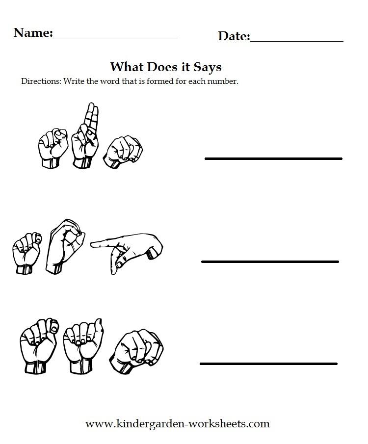 Kindergarten Worksheets Worksheets Sign Language Kindergartenworksheets asl coloring pages z