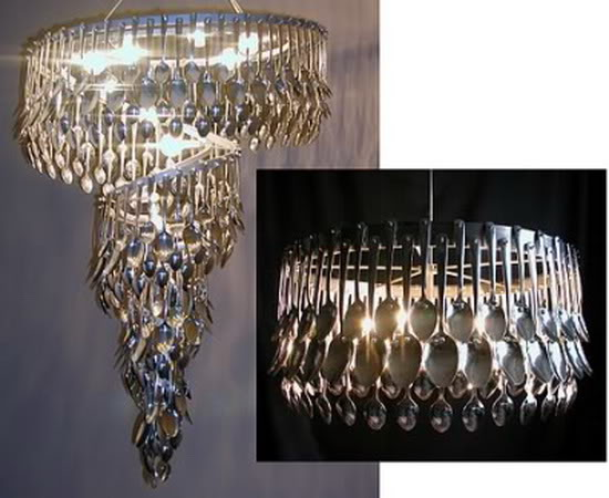 Creative Recycled Chandeliers - Recycling Center