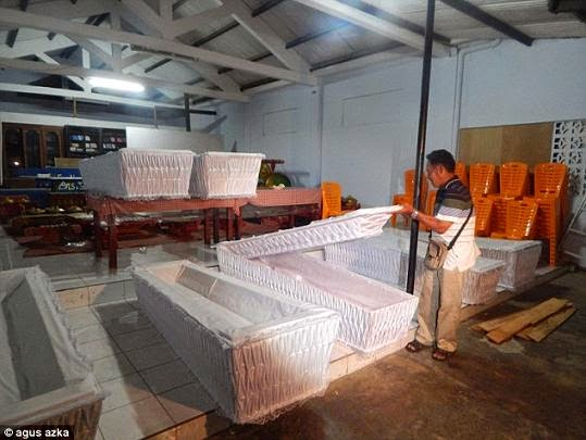 coffins nigerians executed indonesia