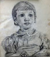 Old pencil portrait  from a photograph.