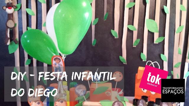 Decoração de Festa Infantil com tema do Diego