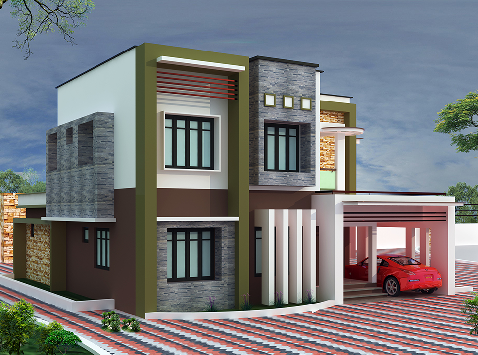 3100 sq ft 4BHK Modern style villa design