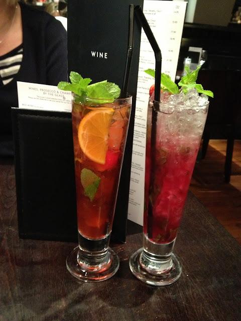 Cocktails at Gusto Edinburgh
