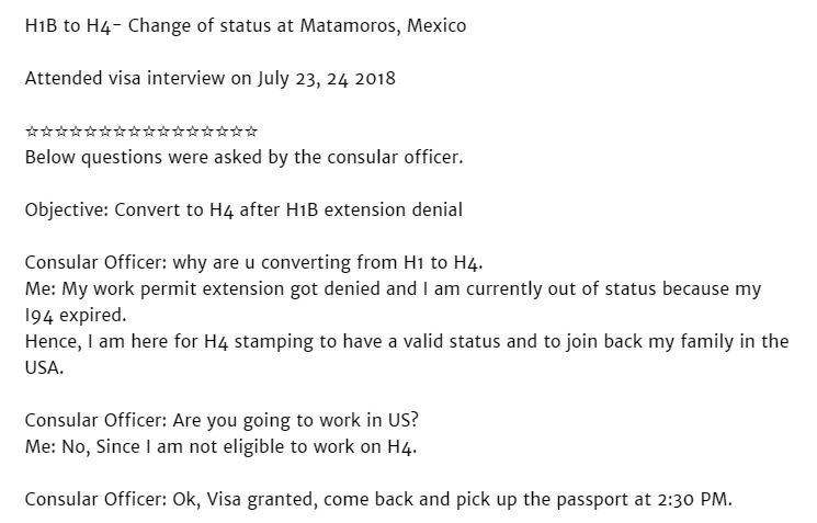 what are my options after H1B Visa Extension or Transfer