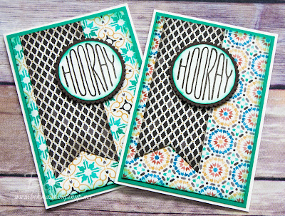 Moroccan Designer Paper Celebration Cards Made Using Stampin' Up! UK Supplies which you can get here