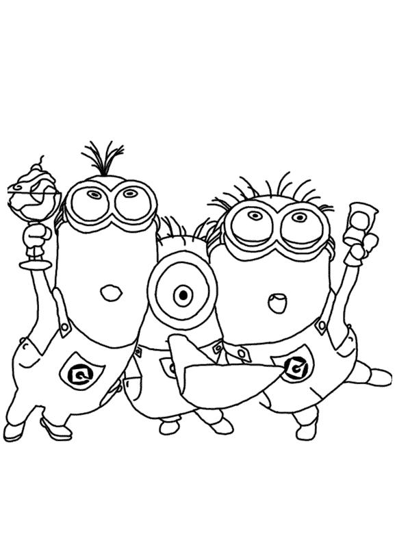 Colorea Tus Dibujos Personajes De Los Minions Para Colorear