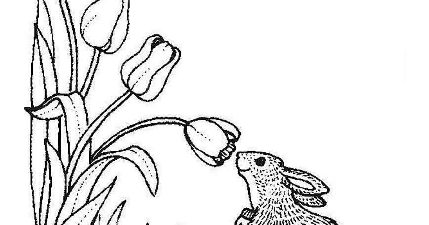 Раскраски деткам: Раскраска - весна пришла