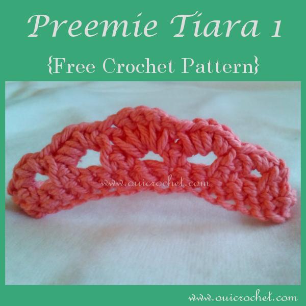 Crochet, Crochet For Baby, Crochet for NICU Babies, Crochet for Preemies, Crochet Preemie Headband, Crochet Preemie Tiara, Crochet Preemie Tiara Headband, Crochet Tiara, Free Crochet Pattern, Preemie Tiara,