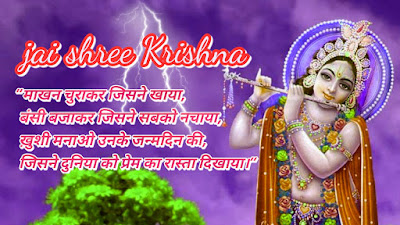 Happy kishna Janmastami 2017 greeting cards,wishes,wallpaper Happy Janmastami greeting card,sms image,sms hindi,lord krishna,radhe,makhanchor,hinditecharea.com