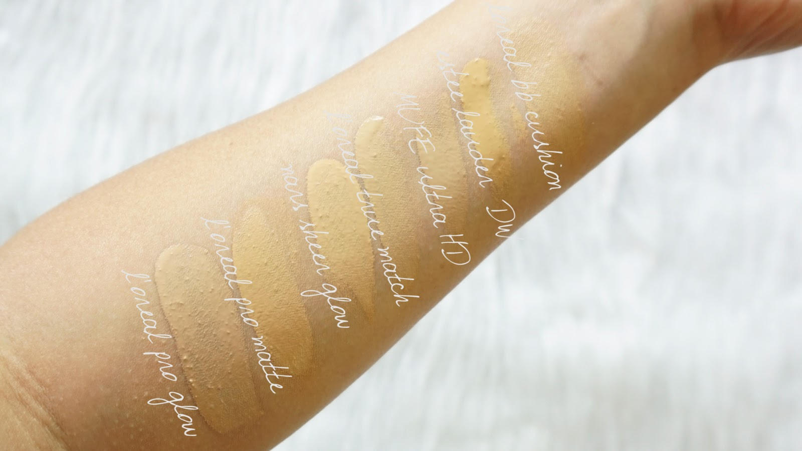 Loreal Infallible Pro Glow Foundation Review Brunette And Bright Matte 24hr I Wanted To Share Some Of My Favorite Shades With You For A Color Comparison Isnt It Funny How There Are Subtle Variations In But