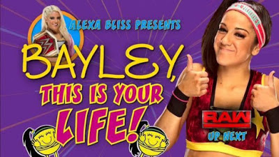 WWE Bliss Bayley This IS your Life Kurt Angle Raw