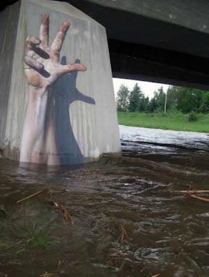 Pintura y arte bajo el puente
