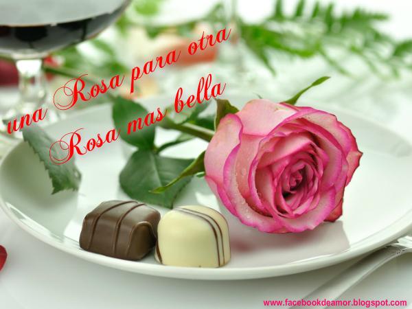 Una Rosa Para Amor Compartir En Facebook Imágenes Bonitas De Amor