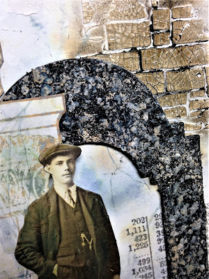 Sara Emily Barker http://sarascloset1.blogspot.com/ Before I Had My Coffee #timholtz #stampersanonymous #sizzixalterations #distressoxides Faux Marble Faux Granite 5