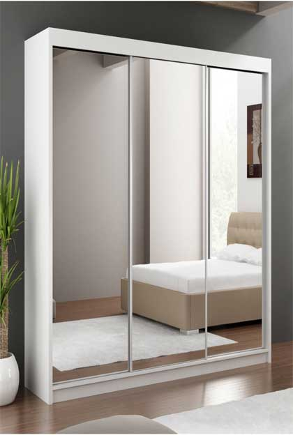 Lemari pakaian minimalis pintu 3