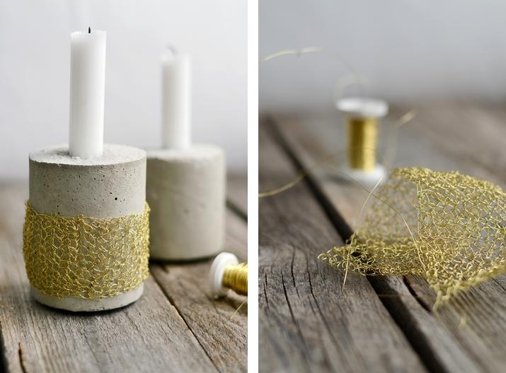 DIY Häkelmanschette aus goldenem Draht