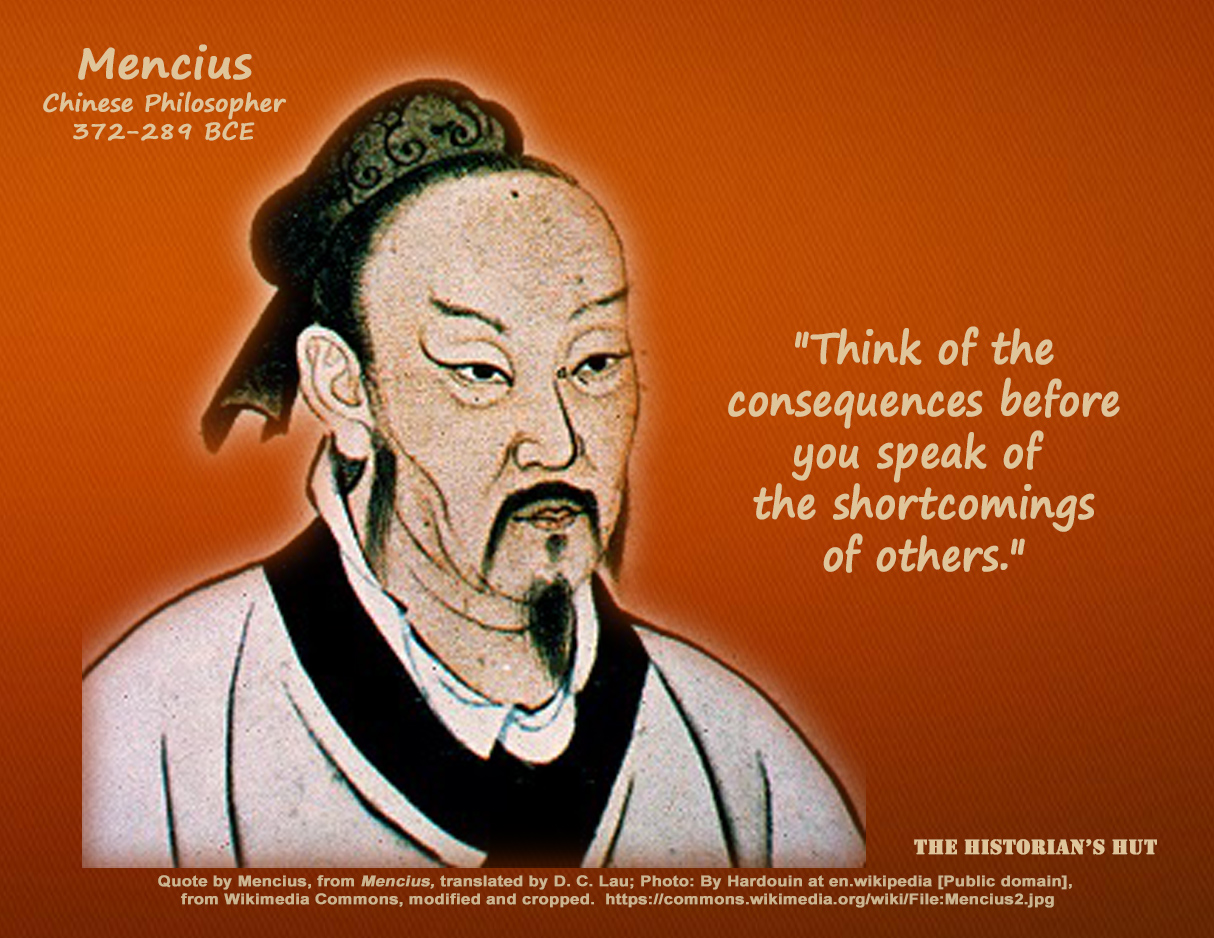 mencius Mencius was one of the great philosophers of ancient china, second only in influence to confucius, whose teachings he defended and expanded the mencius, in which he recounts his dialogues with kings, dukes and military men, as well as other philosophers, is one of the four books that make up the essential confucian corpus.