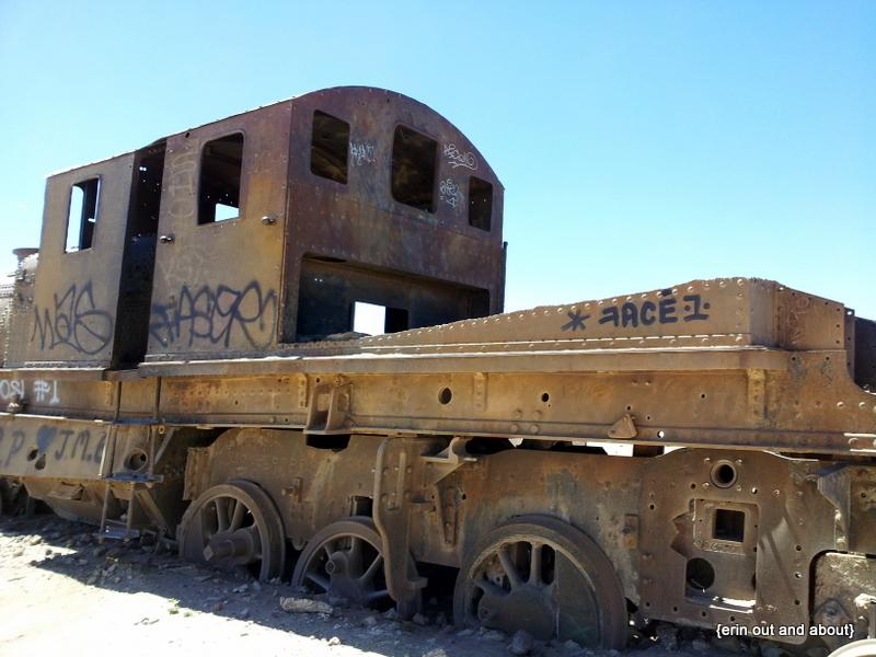 {ErinOutandAbout} Railroad Graveyard, Bolivia