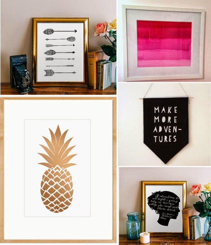 10 rad diy art ideas for your walls from printables to for Diy artwork for bedroom