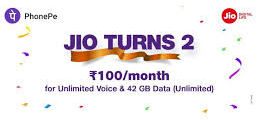 Jio Offer Free Calling and 42GB Data Every Month for Rs. 100