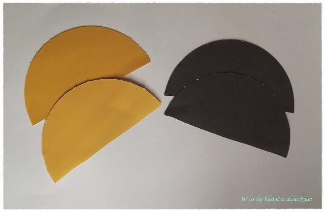 origami płaskie z kółek