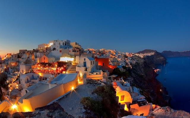 Fuso horário mês a mês em Santorini