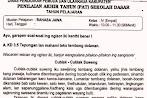 Soal Ulangan Bahasa Jawa Kelas 4 Semester 2 K13