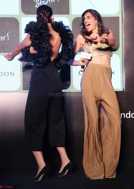Sonam Kapoor in a Beautiful Stunning Black Dress at The Party Starter Anthem launch 3rd March 2017 06.jpg
