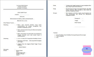 contoh format sk pengangkatan kepala sekolah/madrasah swasta