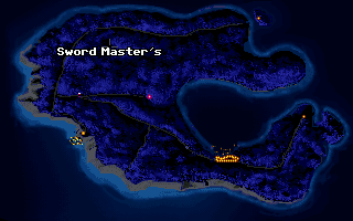 Secret of Monkey Island Melee Island map screen