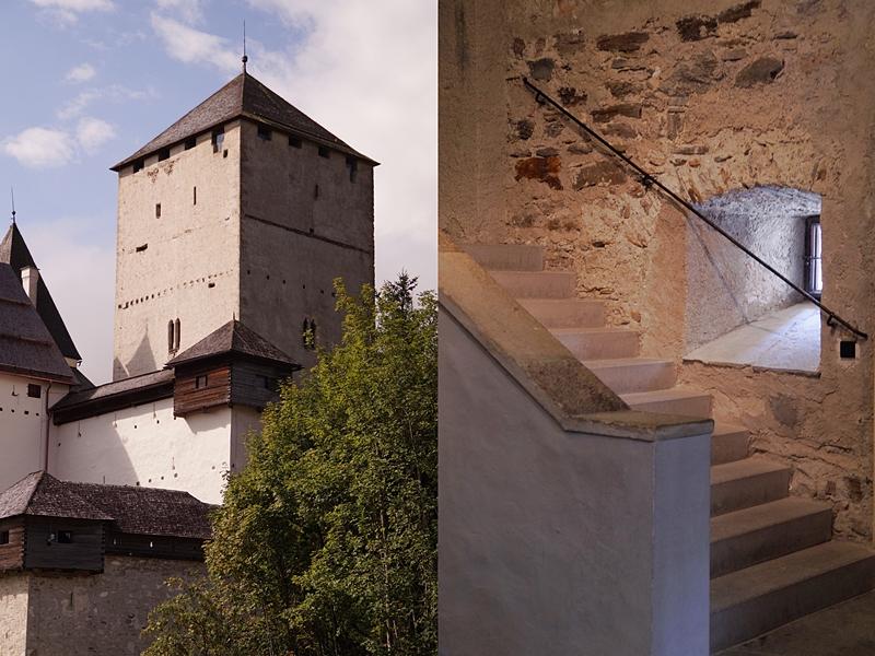 Urlaub im Lungau, Österreich, im September: Dorf und Burg Mauterndorf  // Mauterndorf Castle, Austria