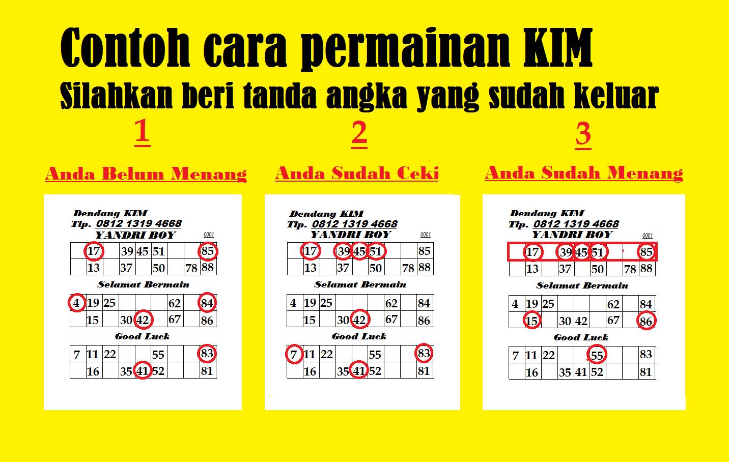 PERMAINAN KIM / BINGO ATAU BATU KUNCANG YANDRI BOY  HP 081213194668