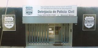 """Manoel Ribas: Jovem é preso por tentar """"passar"""" drogas para dentro da Delegacia"""