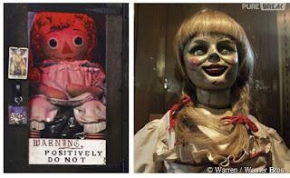 Photo de la vraie Annabelle et de celle du film
