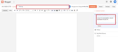 Cara Buat Sitemap Daftar Isi Blog