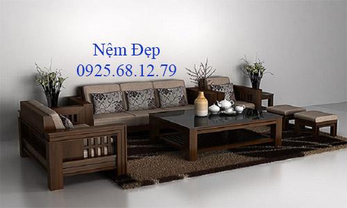 bọc nệm ghế sofa gỗ 027