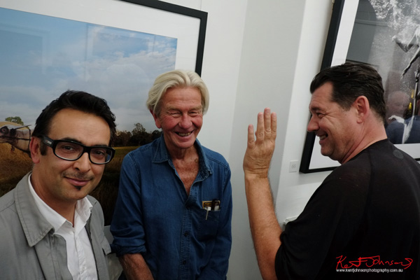 With Brett Hilder & Marcus Tush at Badger & Fox Gallery for the opening of Click!