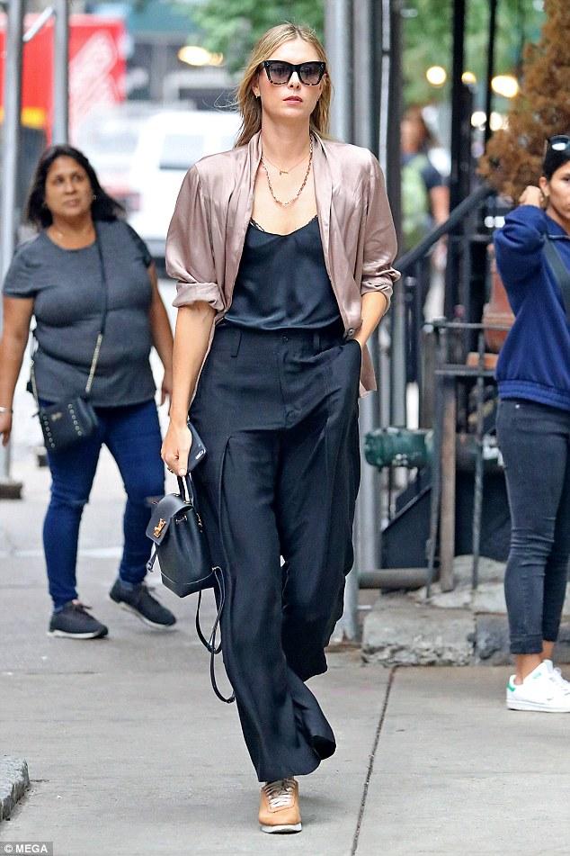 Maria Sharapova looks effortlessly chic she strolls through NYC
